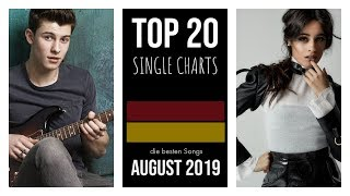 TOP 20 SINGLE CHARTS ♫ best of AUGUST 2019 [D]