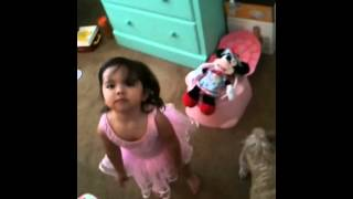 Olivia potty training Minnie Mouse