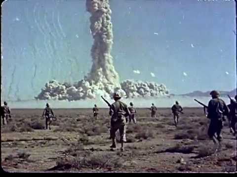 Color footage of soldiers being exposed to high levels of radiation thumbnail