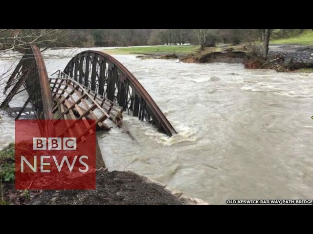 Storm Desmond flooding: Footage from the public - BBC News