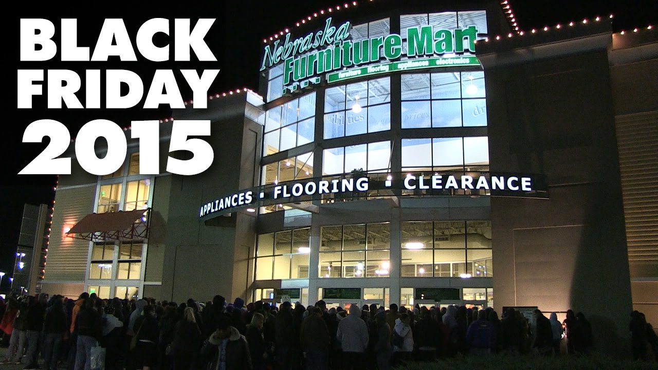 Black Friday 2015 At Nebraska Furniture Mart   YouTube