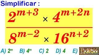 Examen Admisión a la Universidad Teoría de Exponentes AGRARIA Álgebra Solucionario UNALM