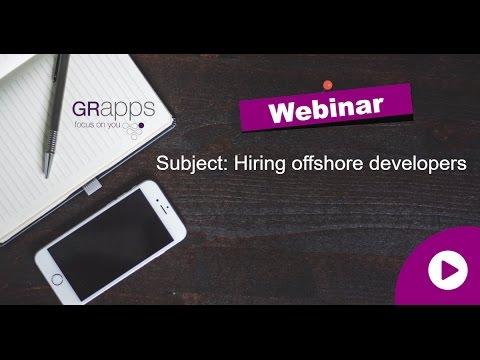 GRapps | Webinar - Offshore | וובינר - שירותי מיקור חוץ