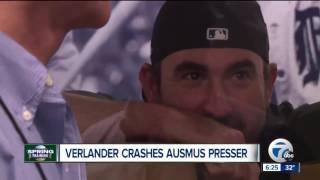 Justin Verlander crashes Brad Ausmus press conference