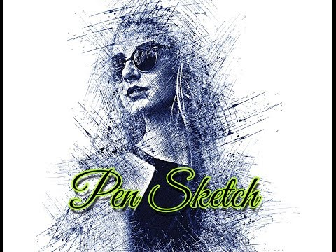 Pen Sketch Photoshop Action Tutorial
