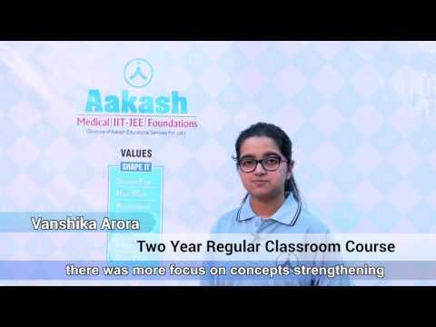 NEET UG 2017 Topper: Vanshika Arora - AIR 20   Aakash Institute