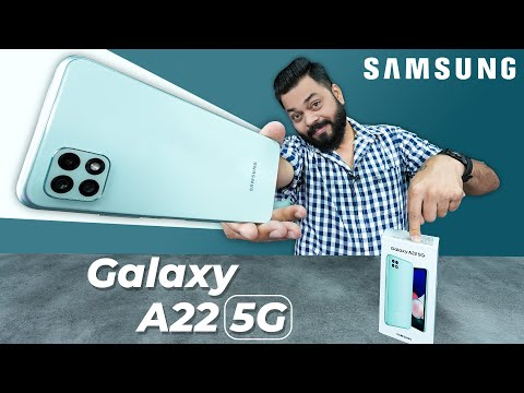 Samsung Galaxy A22 5G Unboxing And First Impressions ⚡ Dimensity 700, 11 5G Bands,90Hz Screen & More