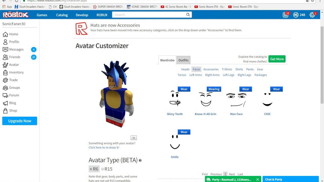 Roblox How To Make Sonic Avatar Youtube