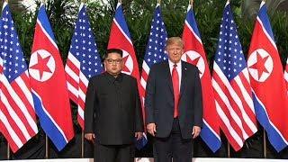 Cyfarfod Hanesyddol Donald Trump a Kim Jong-Un