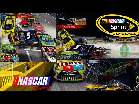 Nascar'15 The Game: Every Night Race Track Crash Compilation