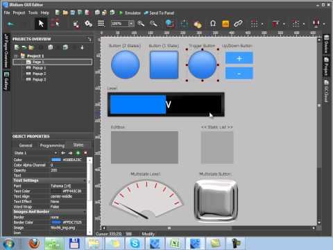 Types of graphic items in iRidium GUI Editor: description and main properties.