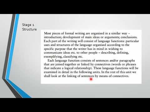 Technical Writing Skills - Unit 1 - 1 Structure and Cohesion - Technical Writing Skills