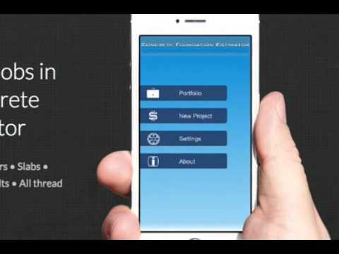 Concrete Foundation Estimator for iOS - Estimate & Bid on Concrete Jobs