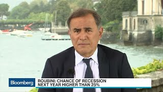 Roubini Says Markets Too Complacent, Chance of Recession Over 25%