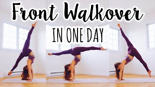 How to do a Fr๐nt Walkover in One Day!