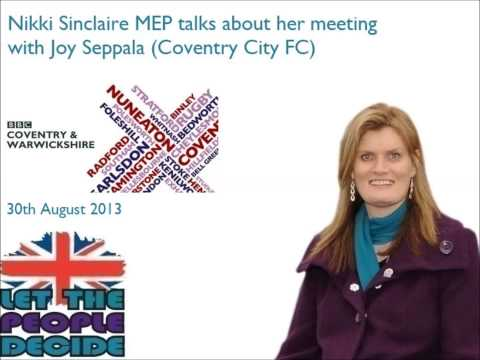 Nikki Sinclaire MEP talks about her meeting with Joy Seppala