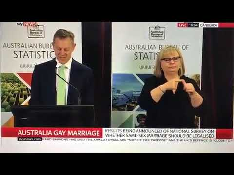 Australia Votes YES For Marriage Equality (November 15th, 2017)