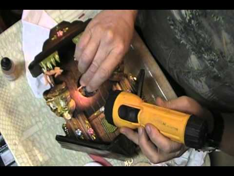 Cuckoo Clock Cleaning, Oiling, Repairing.wmv