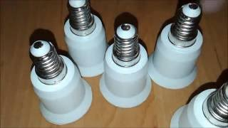 цоколь Е27 / Е14. Адаптер для Лампочек / Socket adapter for light bulbs # 49