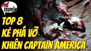 TOP 8 các nhân vật PHÁ ĐƯỢC KHIÊN CAPTAIN AMERICA