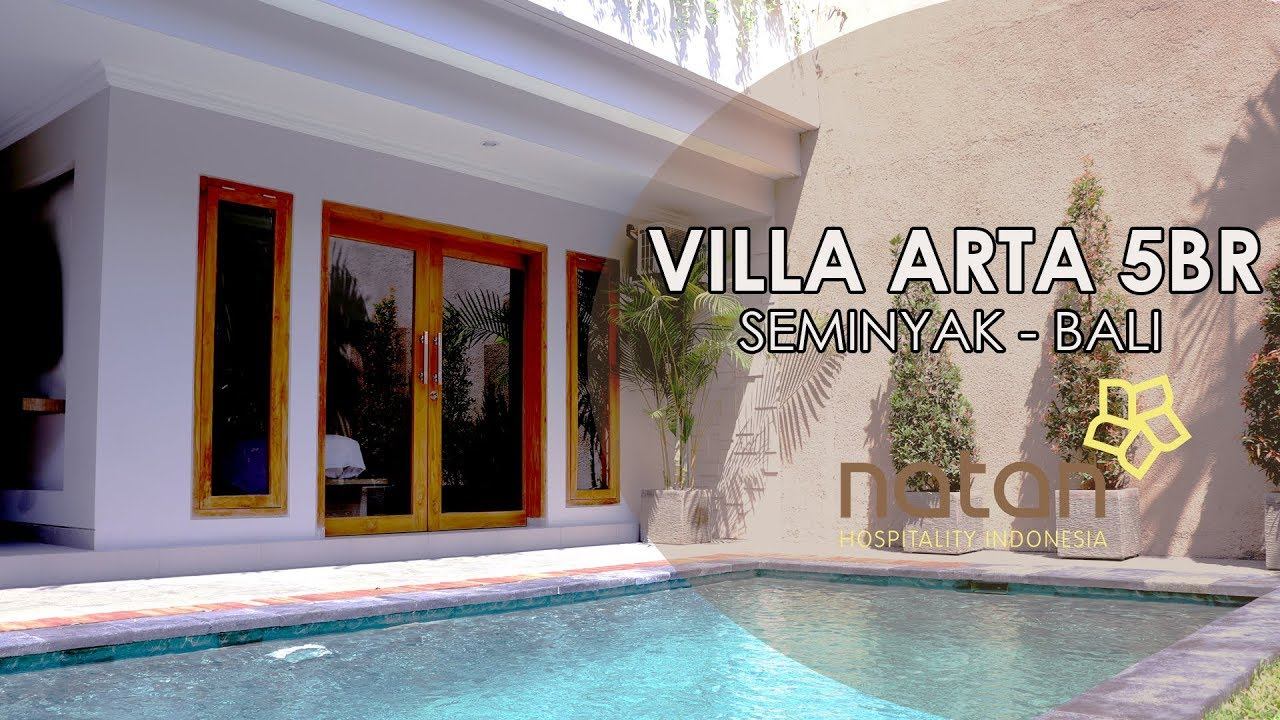 Villa Arta 5 Bedroom In Seminyak Bali Youtube