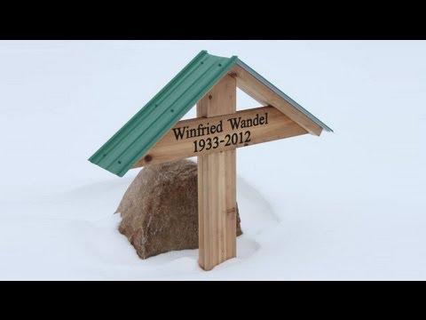 Building a wooden grave marker