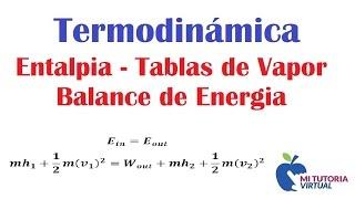 Turbina Adiabatica - Balance de Energia - Entalpia - Tablas de Vapor - Video 121