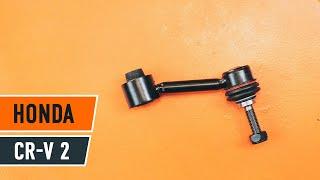 Como substituir Barra escora barra estabilizadora HONDA CR-V II (RD_) - vídeo guia
