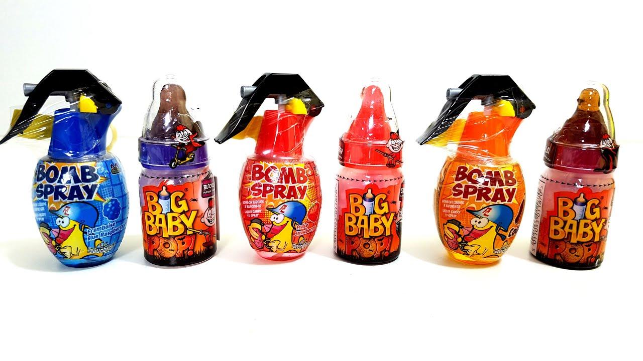 Big Baby Pop Bomb Spray Liquid Funny Candy Cola Blue