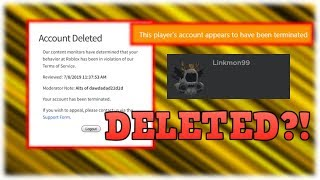 Linkmon99 Just Got Deleted From Roblox!?