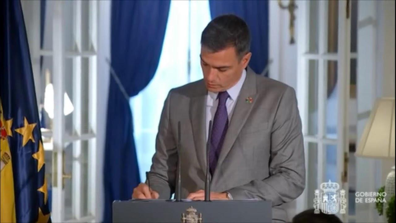 Download El presidente del Gobierno, Pedro Sánchez comparece antes los medios desde Nueva York