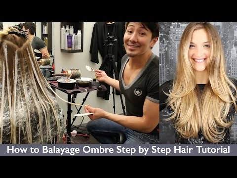 How to Balayage Ombre Step by Step Hair Painting