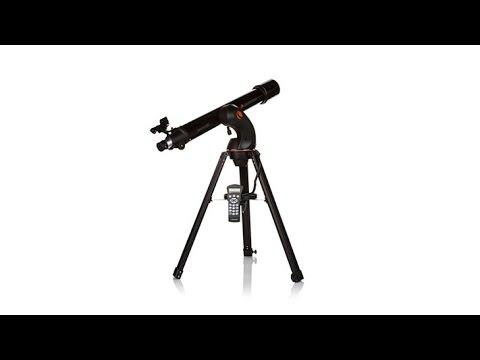 Celestron nexstar 90gt 90mm refractor telescope youtube.