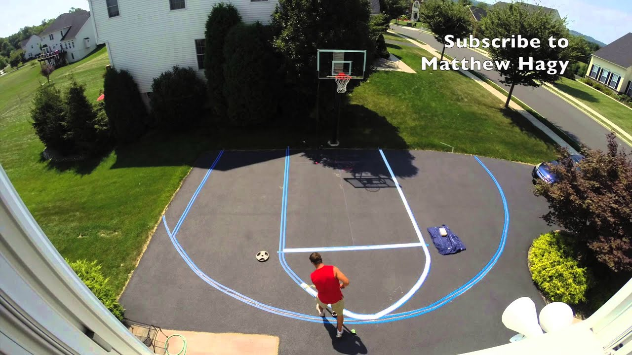 How to Paint Basketball Lines in Driveway, Time Elapsed ...