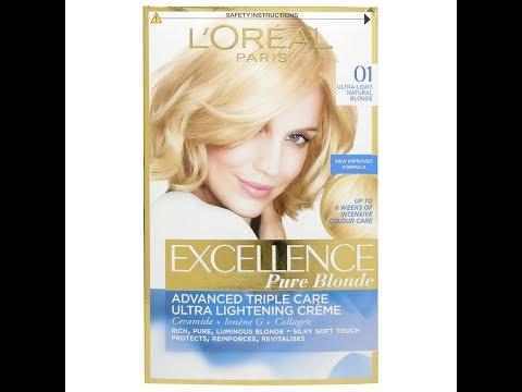 Стать блондинкой с крем-краской L'Oreal Excellence Pure Blonde 01. Отзыв.