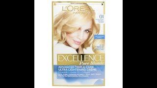 Стати блондинкою з крем-фарбою L'oreal Excellence Pure Blonde 01. Відгук.