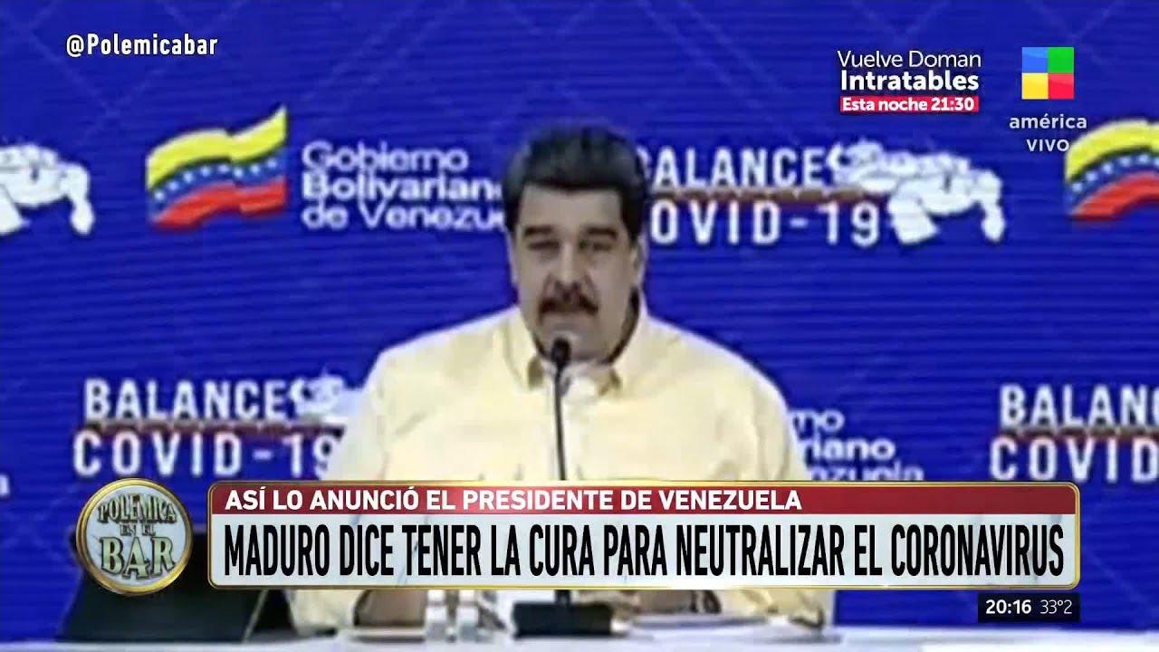 "Maduro presentó las ""gotitas milagrosas"" contra el coronavirus"