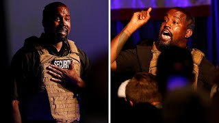 video: A tearful Kanye West launches presidential campaign with rambling rally