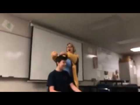 Woody and Wilcox - Teacher Cuts A Students Hair While Singing National Anthem