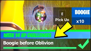 Boogie before oblivion & Boogie Bomb LOCATIONS (Fortnite XP Xtravaganza Week 4 Challenges)