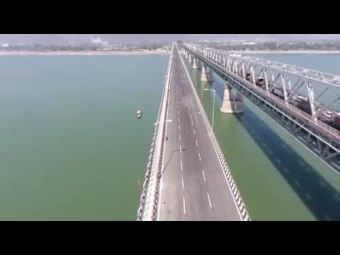 Saraighat Bridge on the river of Brahmaputra at Guwahati, Assam