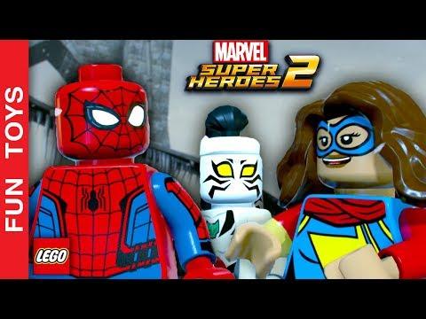 Homem Aranha, Miss Marvel e Tigresa Branca enfrentam VÁRIOS vilões em Lego Marvel Super Heroes 2 💥: São muito VILÕES em uma missão SÓ!!!! Será que Homem Aranha, Miss Marvel e Tigresa Branca vão conseguir derrotar TODOS?  Comente aí em baixo qual o personagem mais legal que você já viu no nossos vídeos de LEGO MARVEL Super Heroes 2!  Compre bonecos do jogo aqui: http://amzn.to/2ATMPIq  Não se esqueça de dar um JOINHA no vídeo, MOSTRAR este vídeo para seus amigos e parentes e de se INSCREVER no canal clicando neste link: http://bit.ly/FunToysVideos  Já terminamos TODAS as missões do playset do Homem Aranha, para ver a série completa desde o início, clique neste link: http://bit.ly/SpiderManDI  Já jogamos TODAS as fases da série dos Vingadores, se quiser ver os gameplays destas fases desde o início, veja aqui: http://bit.ly/DisneyInfinityFT  ✦Inscreva-se: http://bit.ly/FunToysVideos ✦Twitter: https://twitter.com/FunToysBrinque ✦Google+: https://goo.gl/QVmgp0 ✦Instagram: https://instagram.com/fun_toys_brinquedos/ ✦Blog: http://festadeideias.com.br/Fun_Toys_Brinquedos/ ✦Facebook: http://bit.ly/FunToysFacebook  ✦VEJA ABAIXO outros vídeos legais: - Todos os Gameplays: https://www.youtube.com/watch?v=4DElElgNGB4&list=PL2edokDcUWHIZRjdi8d-Gj3NaBM8UWN8r  - Todos as Construções de Lego com Minecraft: https://www.youtube.com/playlist?list=PL2edokDcUWHLtdIVszqrE2C9BI1AmTrW9  - Todos de fazer com lápis papel e alguns com lego: https://www.youtube.com/playlist?list=PL2edokDcUWHLy2CKSSjocDGgMD5Y8lAXL  - Todos com Estorinhas com brinquedos: https://www.youtube.com/playlist?list=PL2edokDcUWHJqv9GlD0UFfNiqVfwFysv0  - Meus vídeos Favoritos: https://www.youtube.com/playlist?list=PL2edokDcUWHJkaMtTyWXEODq8703ra-Lu  - Todos os nossos vídeos de Star Wars: https://www.youtube.com/playlist?list=PL2edokDcUWHIbLmvKreS8ToGqLdvYgA8I  - Aqui você pode ver TODOS os vídeos: http://bit.ly/FunToysVideos  - Faça sua PRÓPRIA Pokebola com Lego ou no MINECRAFT - Pokemon Go: https://www.youtube.com/watch?