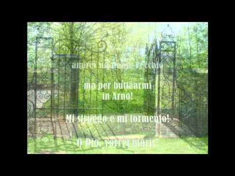 O mio babbino caro Lyric Tono bajo Orquesta