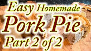 Pork pies made at home from scratch, easy step by step instructions. Part 2