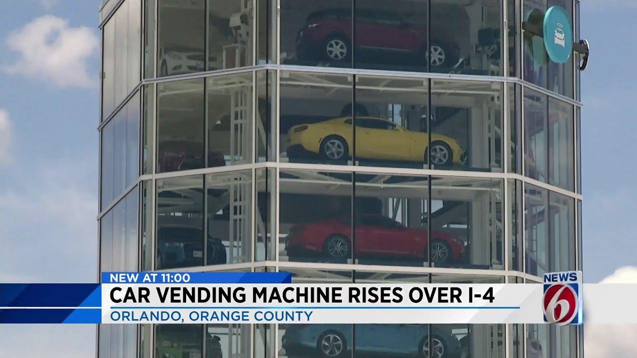 Car vending machine rises over I-4