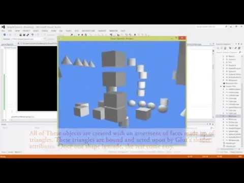 Creating a 3D scene in openGl