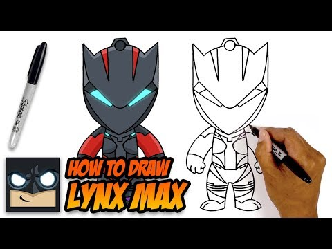 How to Draw Fortnite | Lynx Max | Step-by-Step