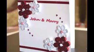 How to make a Quilling Card - DIY Paper Crafts for teenagers - Birthday Gift - Handmade Ideas