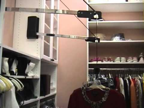 Automated Wardrobe Lift   Extended Lift; An Electric Motorized Closet Rod