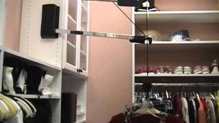 Automated Wardrobe Lift - Extended Lift; An Electric Motorized Closet Rod